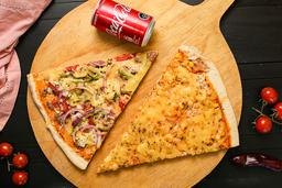 2 Trozos de Pizza + 1 bebida