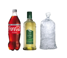 Combo Pisco Alto 35 + Coca-Cola Light + Hielo