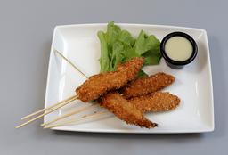 Brochetas de pollo thai 5 unidades