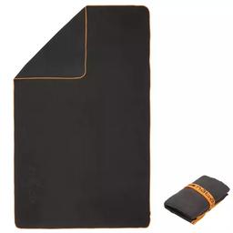 Toalla de microfibra gris oscuro ultra compacta talla L 80x130cm