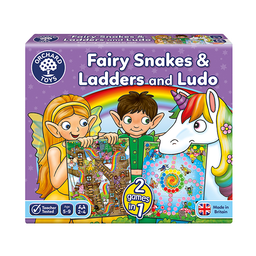 Orchard Toys Juego de Mesa Fairy Snakes & Ladders y Ludo