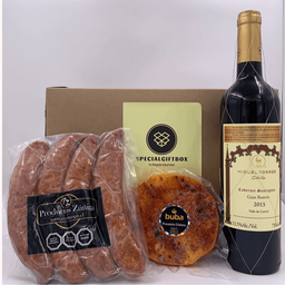 Smoked Sausages, Cheese & Wine
