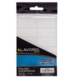 Lavoro Etiquetas Sobre Autoadhesiva Blanca 19 x 40 mm