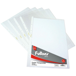 Fultons Set Funda Transparente Oficio Blanco
