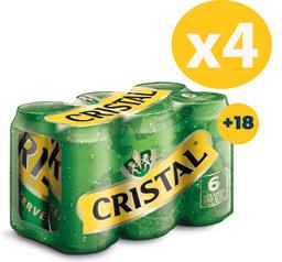 Promo: 4x Six Pack cristal lata 350 cc