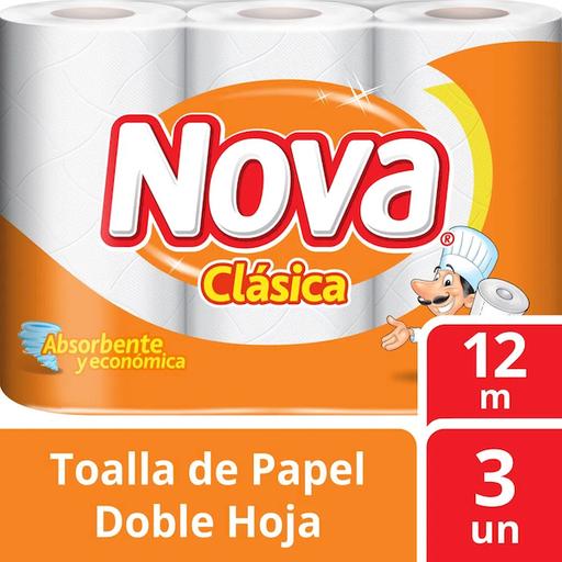 Nova Toalla Papel Clásica Nova Doble Hoja