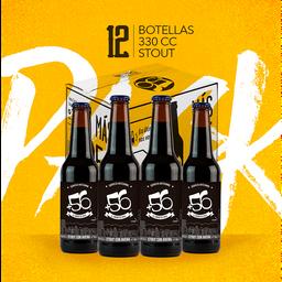 Cerveza Pack 12u +56 Stout 7° 330cc