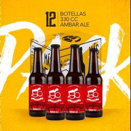 Cerveza Pack 12u +56 Ambar Ale 4,5° 330cc