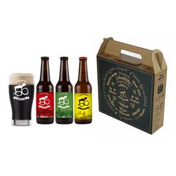 Pack Regalo 3 Cervezas +56 y Vaso Schopero