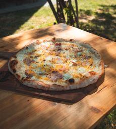 Egg, Cheese & Bacon Pizza