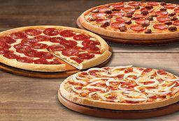 3 Pizzas Familiares Clásicas