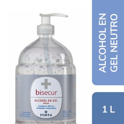 Bisecur Alcohol Gel Con Dispensador 1 L