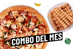 Combo del Mes Pizza Vegetariana