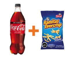 Coca Cola y/o Variedades 591cc + Ramitas Variedades 120gr