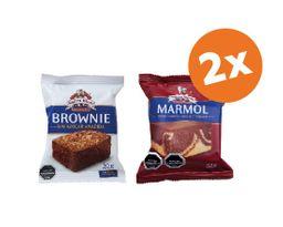 Promo 2x Brownie Sin Azúcar 50G y/o Brownie Chocolate 62gr