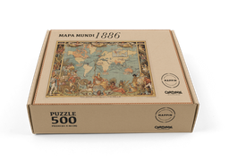 Mappin Rompecabezas Mapa Del Mundo 1886 (500 Piezas)