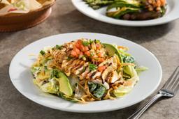 Chip & Salsa, Santa Fe Salad y Helado