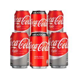 Promo: 6x coca cola lata 350cc