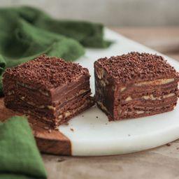 Pastel Panqueque Chocolate Manjar