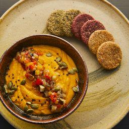 Hummus de Zanahoria con Escalivada de Verduras