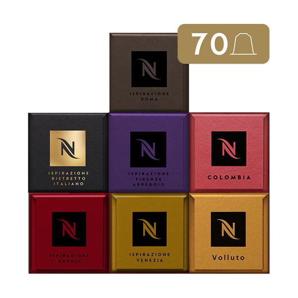 Nespresso Caja Best Seller - 70 Cápsulas