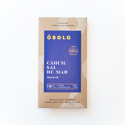 Óbolo Chocolate Cáhuil Sal de Mar 70% Cacao