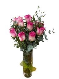 Arreglo Floral 18 Rosas Florero