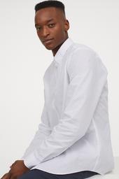 H&M Camisa White Light Dot Cwi 002
