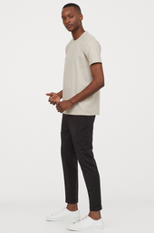 H&M Pantalón Black Dark Solid 008