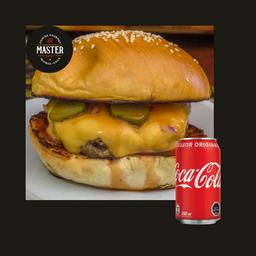 Cuarto de burger + Bebida