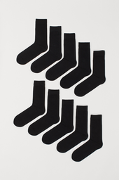 H&M Calcetines Largos Black Unicolor 002