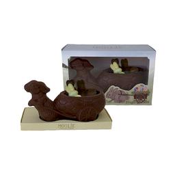Figura de Conejo con Carro Chocolate Leche + Figuras Chocolate