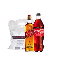 Combo JW Red+ bebida 1,5L a elección + Hielo