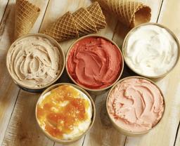 Helado artesanal yogurt damasco