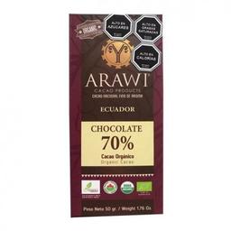 Chocolate 70% cacao organico Barra 50 g