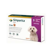 Simparica 10 mg 2.5 a 5 kg