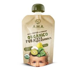 Puré pera kiwi espinaca orgánico