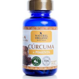 Cúcuma+ pimientra orgánica 60cap.vegetales
