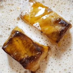 Pescado del día, crema de choclo y espuma de ostras