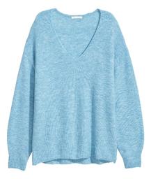 H&M Sweater Mujer Color Celeste