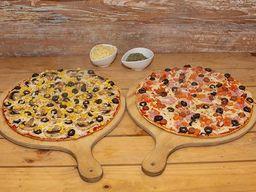 2 Pizzas Clásicas Medianas