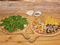 2 Pizzas Gourmet Familiares