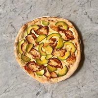 Pizza chicken avocado