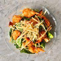 The Popular shrimps cesar salad