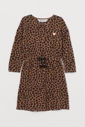H&M Vestido Ajuste Cintura Animal Print