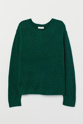 H&M Sweater Liso Color Verde