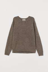H&M Sweater Liso Color Pardo