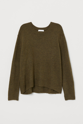 H&M Sweater Liso Color Oscuro