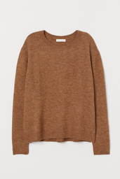 H&M Sweater Liso Color Café
