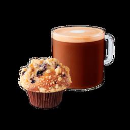 Mocha Latte Grande más Muffin Arándano